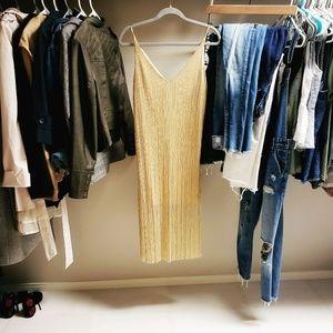 Dresses & Skirts - Gold V Cut Dress